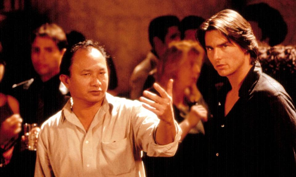 John Woo with Tim Cruise on the Mission: Impossible II set (Credit: Rex Features)