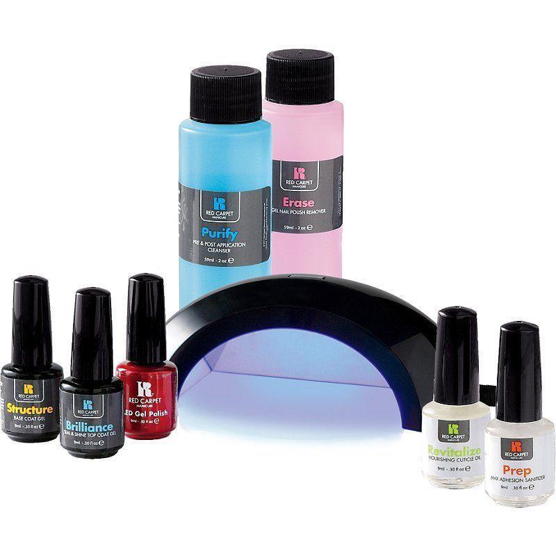 """<p><strong>Red Carpet Manicure</strong></p><p>amazon.com</p><p><strong>$79.99</strong></p><p><a href=""""https://www.amazon.com/Red-Carpet-Manicure-Pro-Starter/dp/B00662Z24A?tag=syn-yahoo-20&ascsubtag=%5Bartid%7C10055.g.32816631%5Bsrc%7Cyahoo-us"""" rel=""""nofollow noopener"""" target=""""_blank"""" data-ylk=""""slk:Shop Now"""" class=""""link rapid-noclick-resp"""">Shop Now</a></p><p>This gel manicure kit is lauded for how professional it looks. Not only does the polish in this kit stay on nails, it's also fast and easy to apply. """"The detailed instructions are very helpful and the products that come in the kit are easy to use and seem to be good quality,"""" said one reviewer. """"I've done two manicures now and <strong>they've lasted me a whole two weeks (and could have lasted longer)</strong>, while I've gotten gel manis at a salon before and they have sometimes only lasted 1 week or less."""" This kit also comes with remover and foil wraps to take off your manicure, completing the professional effect. </p>"""