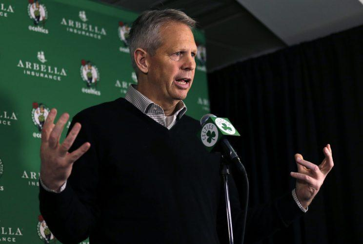 Celtics GM Danny Ainge wasn't interested in sacrificing the team's immense assets on Thursday. (AP)