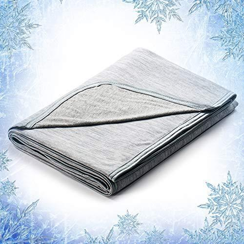 Elegear Cooling Throw Blanket for Couch, Japanese Q-Max 0.4 Arc-Chill Cooling Fiber Absorb Body…