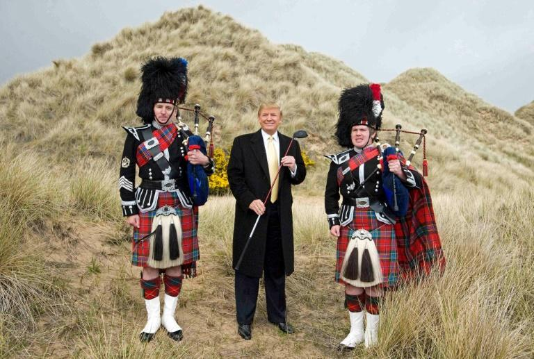 President Donald Trump pictured during construction of his golf course on the Menie Estate near Aberdeen in 2010
