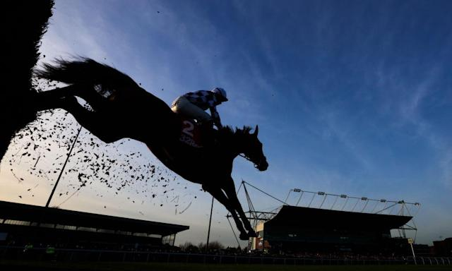 "<span class=""element-image__caption"">Jump racing at Kempton is the highlight of a low-key bank holiday for the sport in Britain.</span> <span class=""element-image__credit"">Photograph: John Walton/PA</span>"
