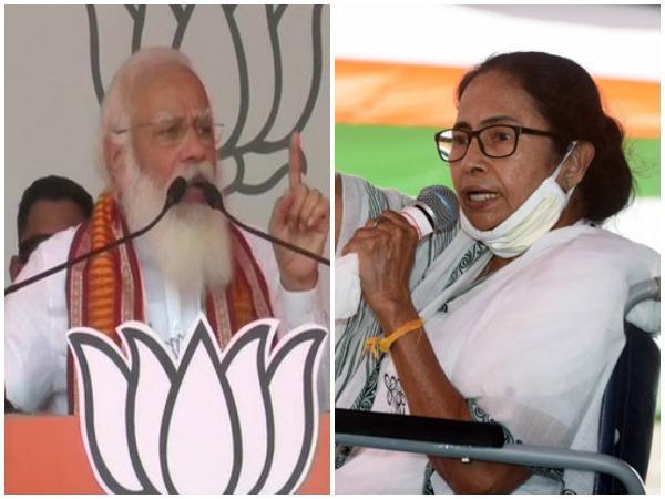 Prime Minister Narendra Modi (left), West Bengal Chief Minister Mamata Banjerjee (right). (File photos)
