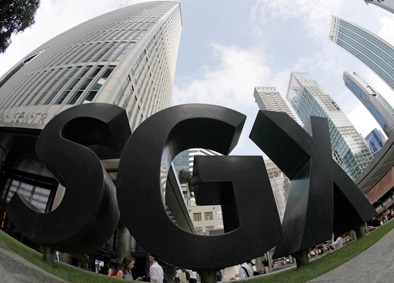 A view of the SGX signage outside their office in Singapore March 2, 2017. Picture taken March 2, 2017. REUTERS/Edgar Su