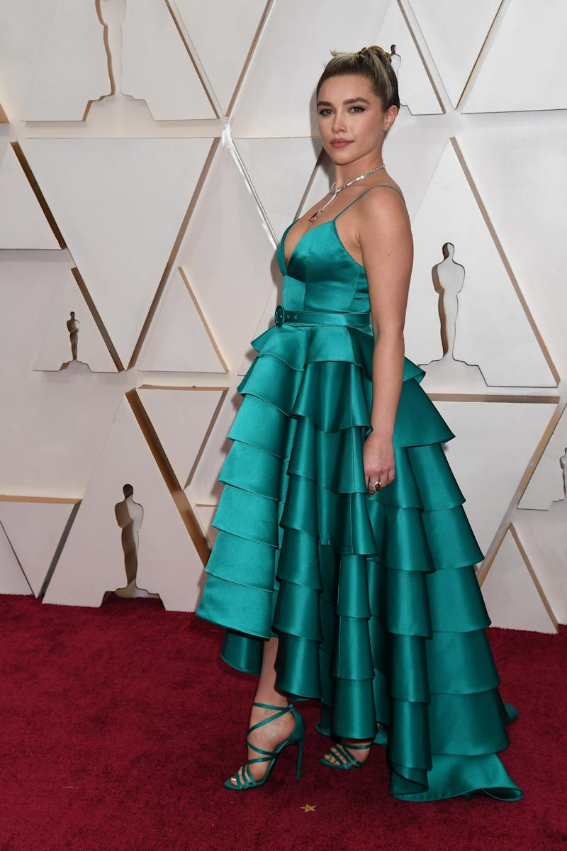 HOLLYWOOD, CALIFORNIA - FEBRUARY 09: Florence Pugh attends the 92nd Annual Academy Awards at Hollywood and Highland on February 09, 2020 in Hollywood, California. (Photo by Jeff Kravitz/FilmMagic)
