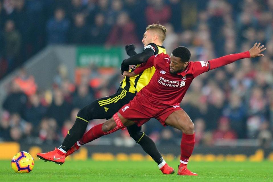 Liverpool's Georginio Wijnaldum says his side are back in the groove (AFP Photo/Anthony DEVLIN)