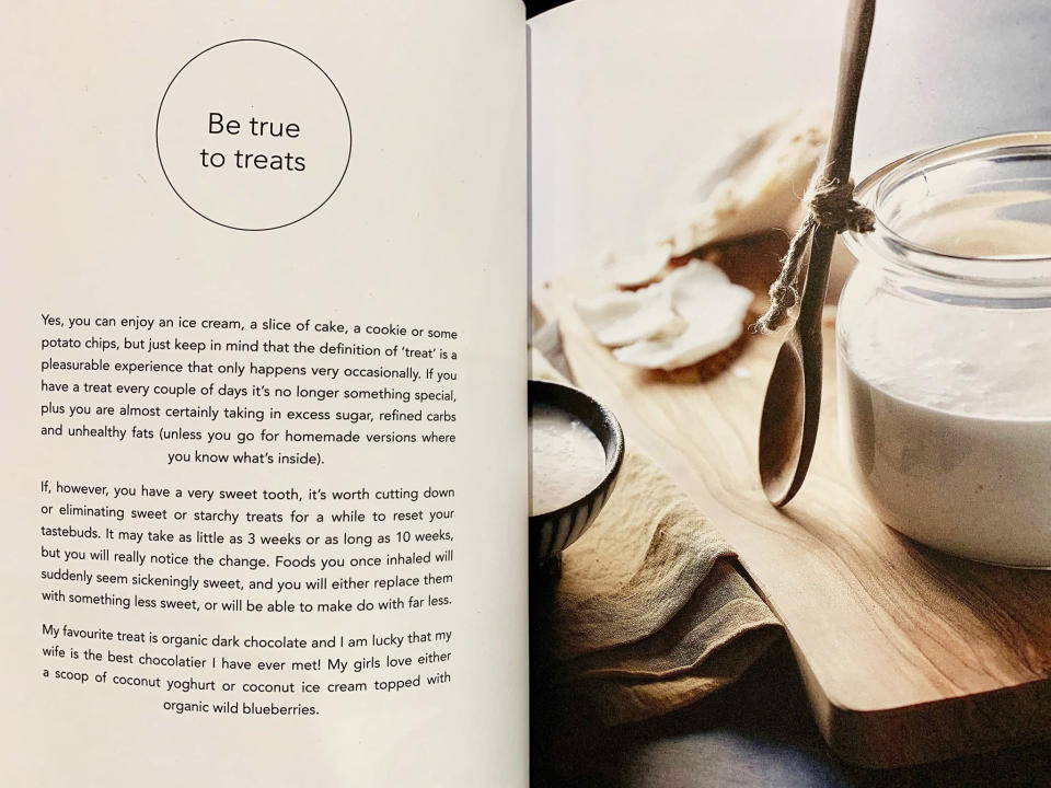 A page from Pete Evans' book Heal