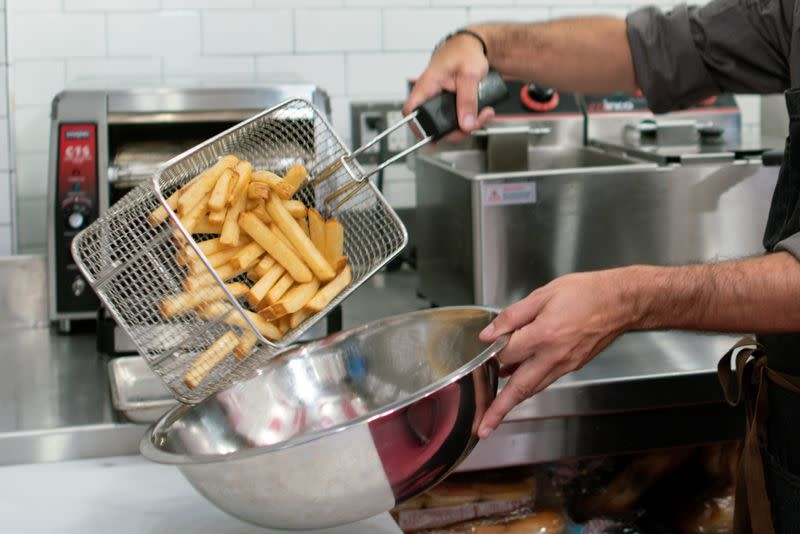 The Creme de la Creme Pommes Frites, the world's most expensive french fries, according to the Guinness Book of World Records, are seen at Serendipity 3 restaurant New York