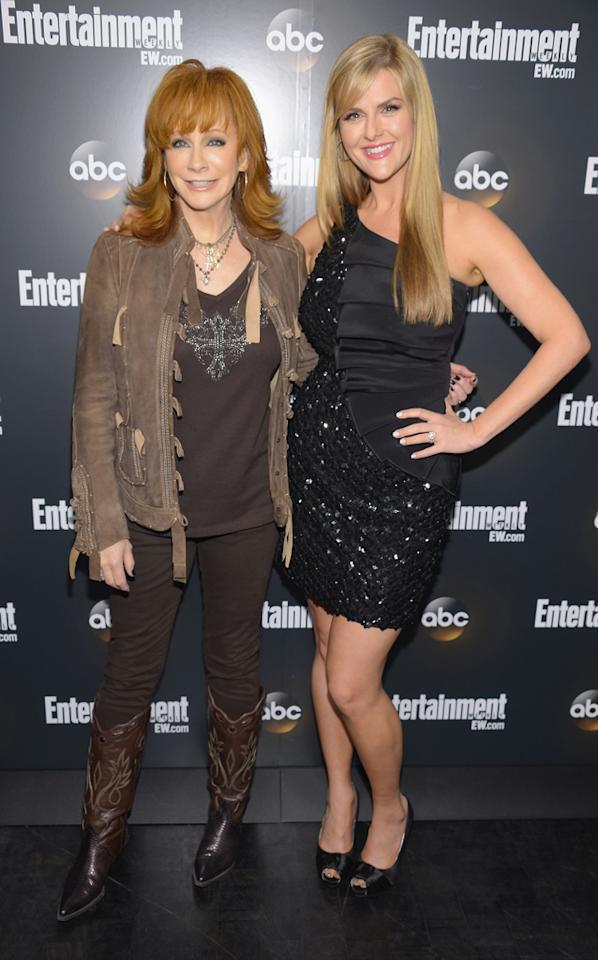 "Reba McEntire and Sara Rue (""Malibu Country"") attend the Entertainment Weekly and ABC Upfront VIP Party at Dream Downtown on May 15, 2012 in New York City."