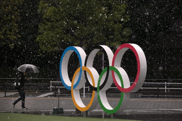 The Summer Olympics in Tokyo are in question. (AP Photo/Jae C. Hong)
