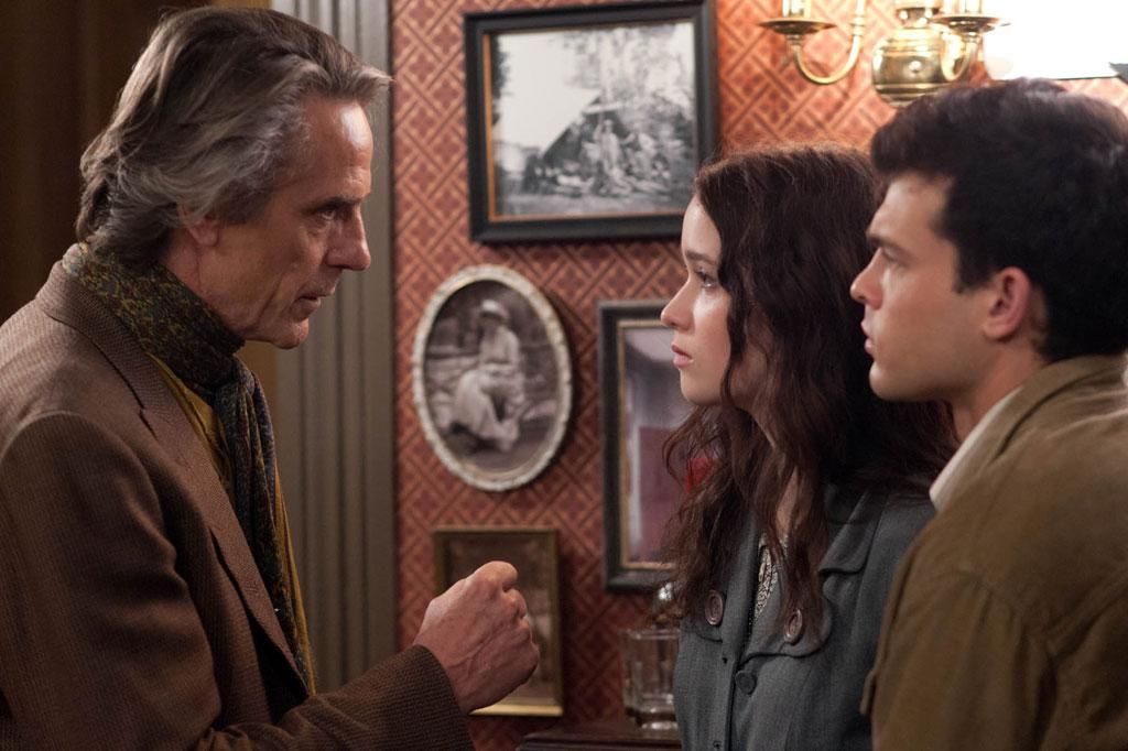 "Jeremy Irons, Alice Englert and Alden Ehrenreich in Warner Bros. Pictures' ""Beautiful Creatures"" - 2013"