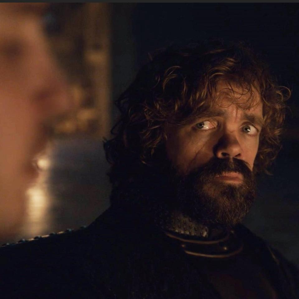 Tyrion listens carefully to Pod's words (credit: HBO)