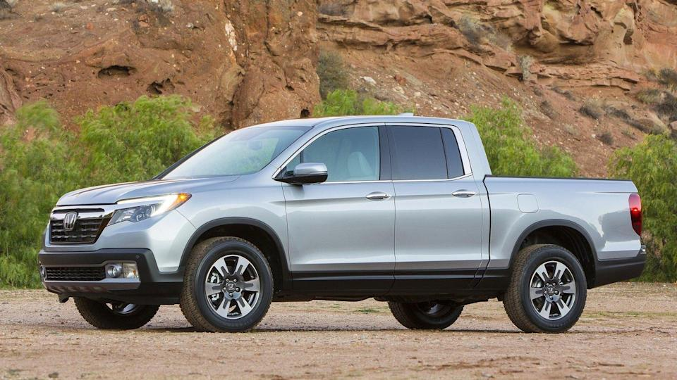 <p>Number 7: <strong>Honda Ridgeline</strong><br> Average 5-year depreciation percentage: <strong>38.1%</strong></p> <p>The same qualities that make the Honda Ridgeline an intriguing alternative to traditional pickups make it an intriguing used vehicle purchase. Compared to its popular body-on-frame competitors — including two other mid-size pickups on this list — the Honda Ridgeline is a comfortable and efficient outlier that still has enough hauling and towing capability to fulfill the needs of the majority of truck buyers. The fact that it's so unique can't help but prop up its resale value.</p>