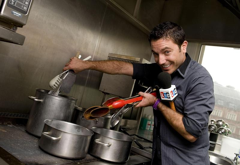 Celebrity chef Gino D'Acampo at the studios of LBC in central London where he launched his new radio show. (Photo by Ian West/PA Images via Getty Images)