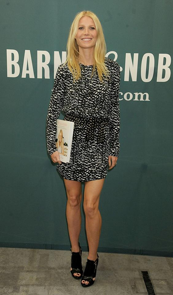 "LOS ANGELES, CA - APRIL 03:  Actress Gwyneth Paltrow signs copies of her new cookbook ""It's All Good"" at Barnes & Noble bookstore at The Grove on April 3, 2013 in Los Angeles, California.  (Photo by Gregg DeGuire/WireImage)"