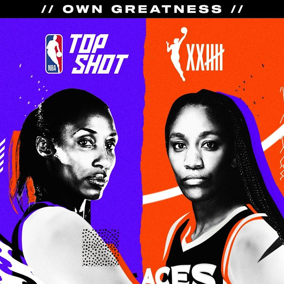 Lisa Leslie (left) and A'ja Wilson (right) are the first lead ambassadors for WNBA moments.