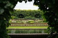 The sunken garden where the Princess Diana statue will be unveiled. (PA)