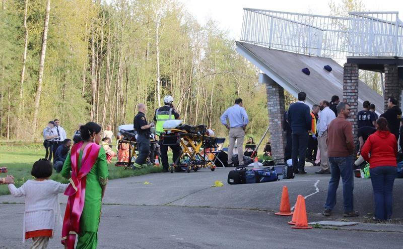 Dozens hurt in collapse of deck during wedding celebration in Langley, B.C.