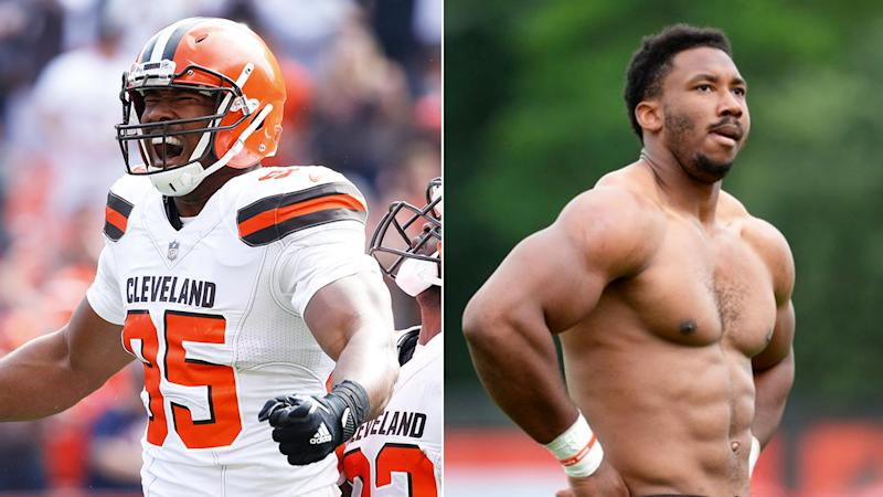 Myles Garrett mocked his attacker after being punched in the face while sitting in his car.