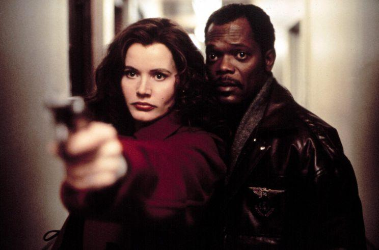 Geena Davis and Samuel L. Jackson in The Long Kiss Goodnight. (Photo: Everett Collection)