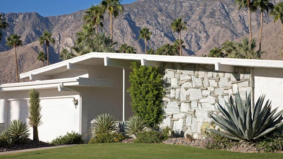 """Clean simple lines of """"Mid Century Modern"""" architecture."""