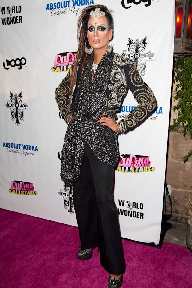 "Raja arrives at the ""RuPaul's Drag Race: All Stars"" Premiere Party at The Abbey on October 16, 2012 in West Hollywood, California."