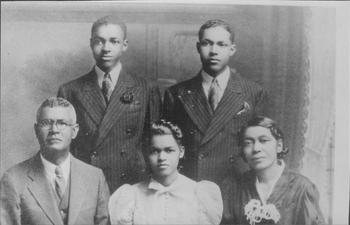 Author Bettye Kearse traces her family lineage back to James Madison, fourth president of the United States. At left is her grandfather John Chester Madison with his family around 1935.