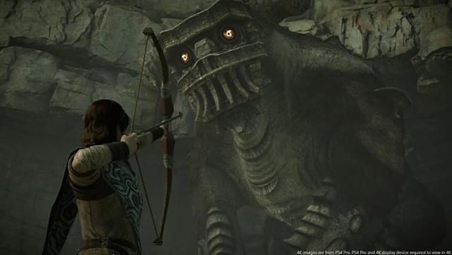 Your bow isn't going to be enough to stop the colossi.