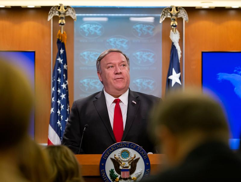 US Secretary of State Mike Pompeo listed a wide range of products and services that would be provided to the three countries. (EPA)