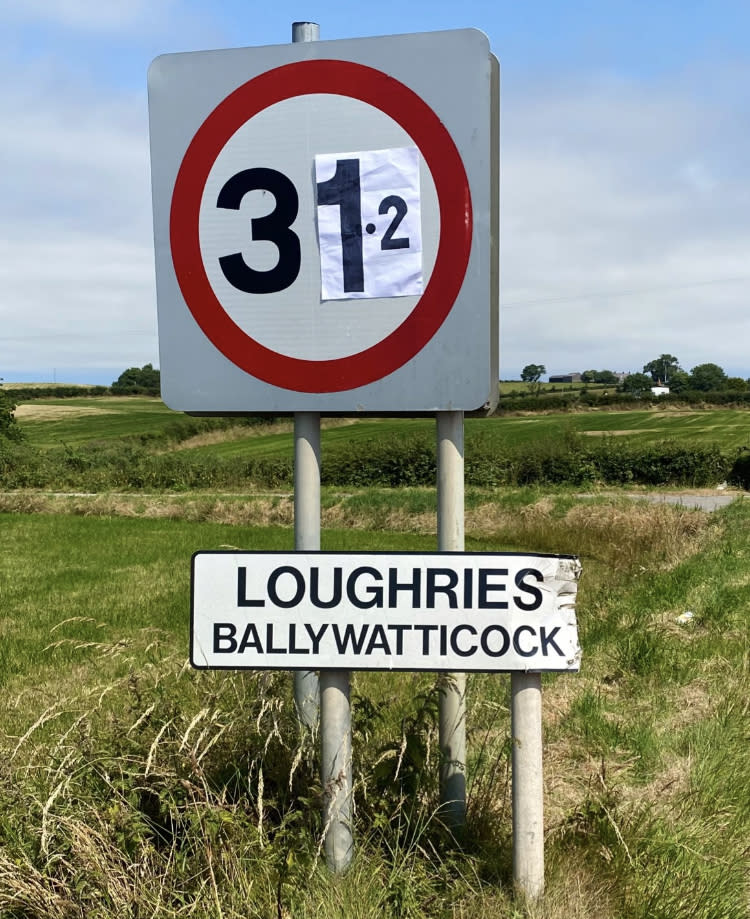 Ballywatticock in Co Down where a new record high temperature in Northern Ireland of 31.2C was recorded on Saturday (Johnny Caldwell/PA)