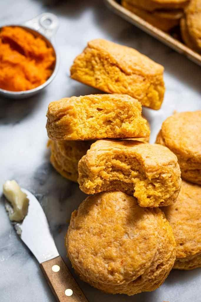 """<p>Mashed garnet yams give these biscuits their unique texture and color. They're also packed with fall flavor thanks to warm spices like cinnamon, nutmeg, and cardamom. </p><p><strong>Get the recipe at <a href=""""https://www.butterbeready.com/sweet-potato-buttermilk-biscuits/"""" rel=""""nofollow noopener"""" target=""""_blank"""" data-ylk=""""slk:Butter Be Ready"""" class=""""link rapid-noclick-resp"""">Butter Be Ready</a>.</strong></p><p><a class=""""link rapid-noclick-resp"""" href=""""https://go.redirectingat.com?id=74968X1596630&url=https%3A%2F%2Fwww.walmart.com%2Fbrowse%2Fmeal-solutions-grains-pasta%2Fherbs-spices-seasoning-mixes%2F976759_976794_3029941&sref=https%3A%2F%2Fwww.thepioneerwoman.com%2Ffood-cooking%2Fmeals-menus%2Fg36876289%2Fsweet-potato-side-dishes%2F"""" rel=""""nofollow noopener"""" target=""""_blank"""" data-ylk=""""slk:SHOP SPICES"""">SHOP SPICES</a></p>"""