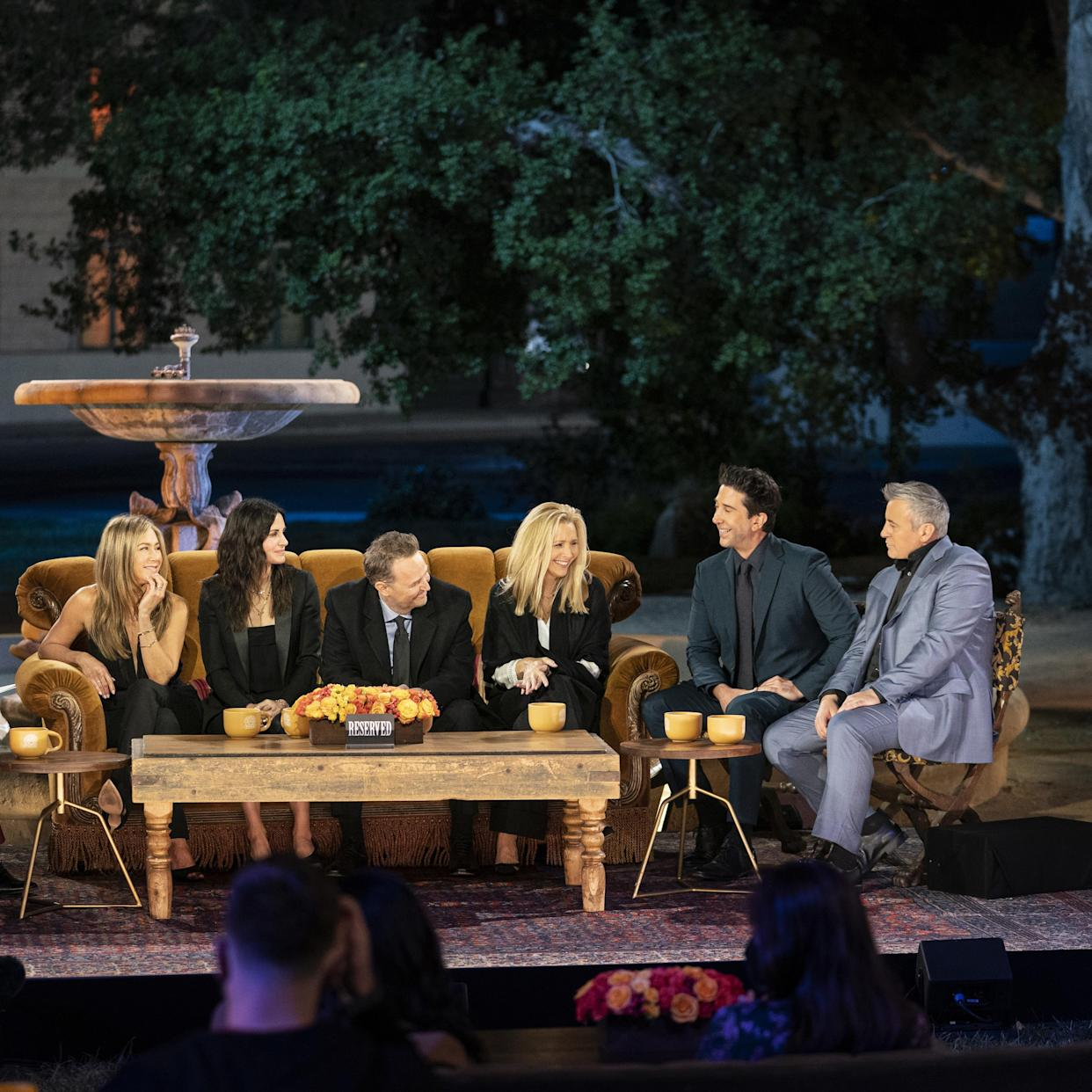 For the first time in 17 years, the cast of Friends reunites for a special celebration of the beloved, smash-hit comedy series. Taped on the original soundstage, Friends: The Reunion finds Jennifer Aniston, Courteney Cox, Lisa Kudrow, Matt LeBlanc, Matthew Perry, and David Schwimmer joined by moderator James Corden and a star-studded roster of special guests as they relive the show's fan-favorite and unforgettable moments. This once-in-a-lifetime special event honors the iconic series, which continues to permeate the zeitgeist today, with a hilarious and heartfelt night full of laughter and tears. Could we be any more excited?