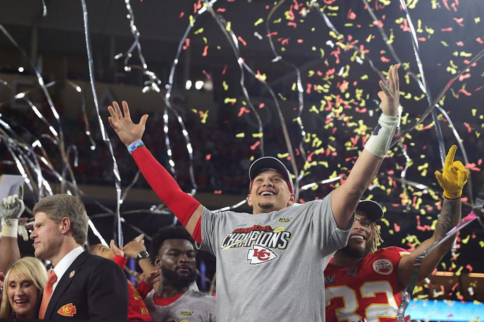 The first of many for Patrick Mahomes and the Kansas City Chiefs? (Tom Pennington/Getty Images)