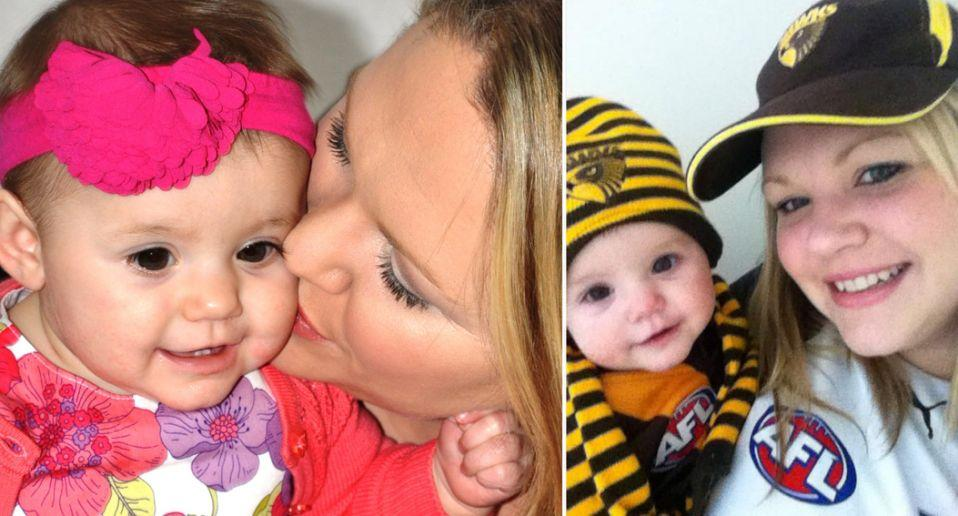 Australian mum, Allison Rees with her daughter Isabella who died after ingesting button batteries. Source: Supplied