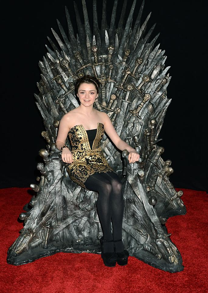 "Maisie Williams attends The Academy of Television Arts & Sciences'  presentation of An Evening With ""Game of Thrones"" at TCL Chinese Theatre on March 19, 2013 in Hollywood, California."