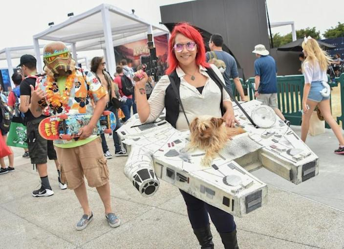 Some 135,000 comic book fans invade San Diego each year for Comic-Con -- one of the world's largest celebrations of pop culture (AFP Photo/CHRIS DELMAS)