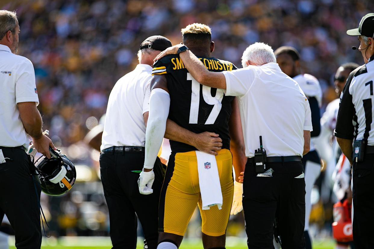 JuJu Smith-Schuster with the Steelers.