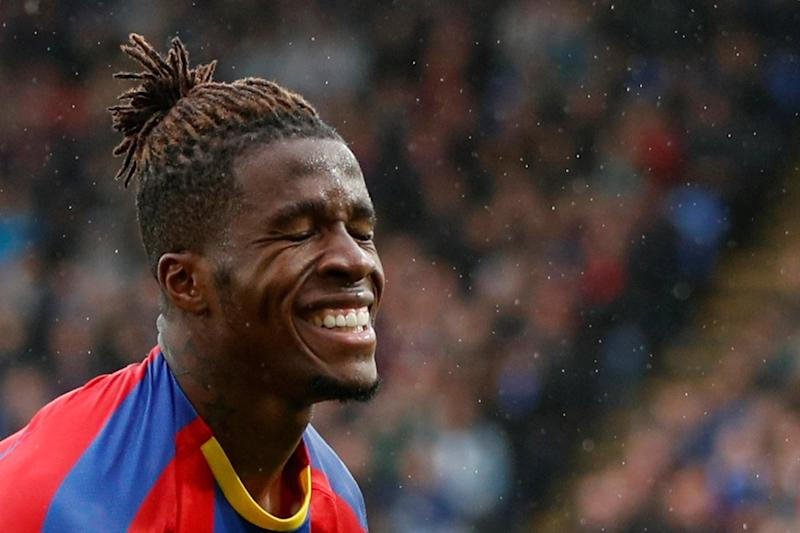 Frustrated: Wilfried Zaha failed to have his usual impact against Newcastle: REUTERS