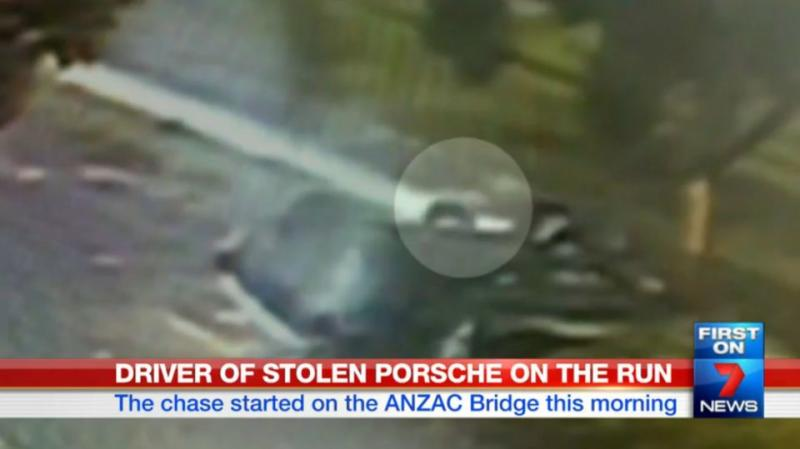 The driver can be seen staggering out of the vehicle and leaving the scene. Photo: 7News
