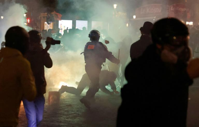 Saturday's demonstration descended into violent clashes with dozens of people injured