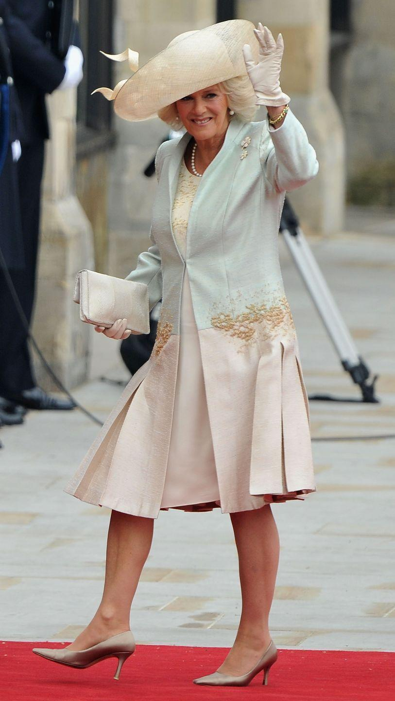 <p>Further proof that Camilla, Duchess of Cornwall loves a good hat. Here she is at the royal wedding in 2011 wearing a wide-brimmed number for the celebration.</p>