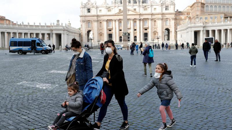 Pope delivers Sunday service by livestream as Italy's coronavirus cases mount