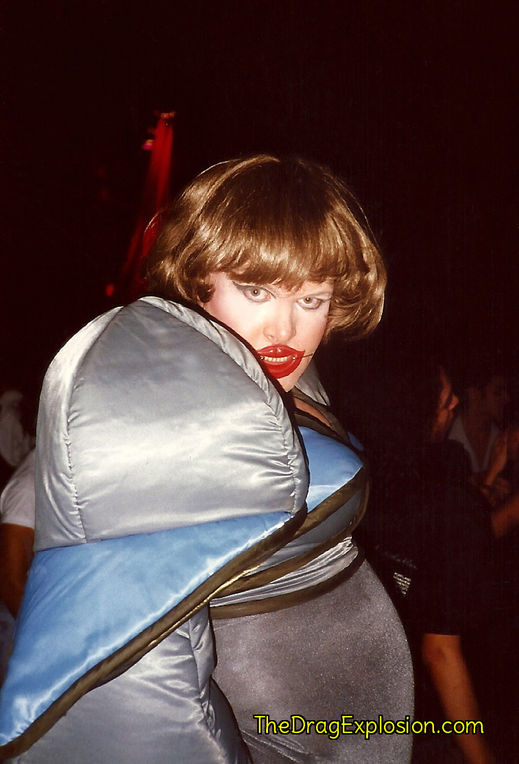Leigh Bowery at the Parallel Nightclub in 1991. (Linda Simpson -- The Drag Explosion)