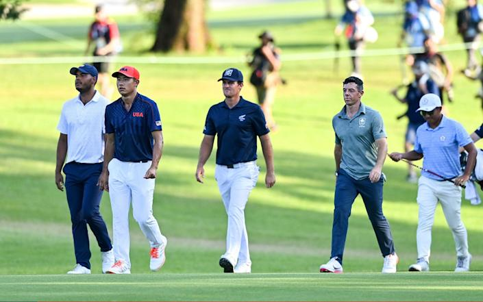 Paul Casey and Rory McIlroy Tokyo 2020 Olympic medal hopes slip away after bizarre seven-way golf play-off - Sportsfile