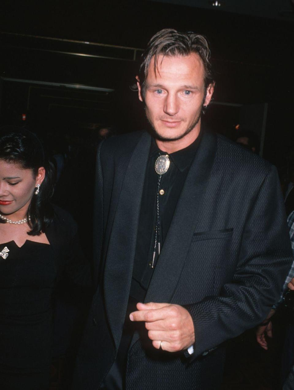 <p>The Irish actor's hairstyle has remained nearly unchanged across the decades. Around the time this photo was taken, he was starring alongside Patrick Swayze in <em>Next of Kin.</em></p>