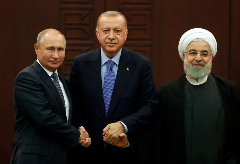 Russia, Turkey, Iran leaders to discuss Syria on Wednesday, Kremlin says