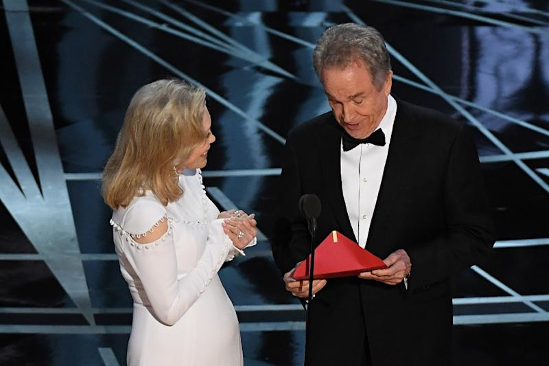 Faye Dunaway and Warren Beatty walked out at the 2017 Oscars to present the award for best
