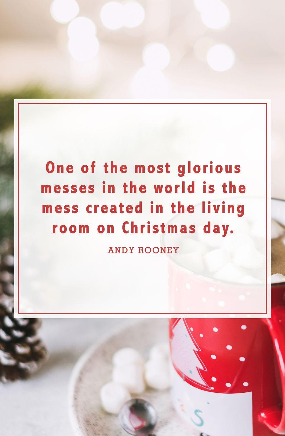 """<p>""""One of the most glorious messes in the world is the mess created in the living room on Christmas Day.""""</p>"""
