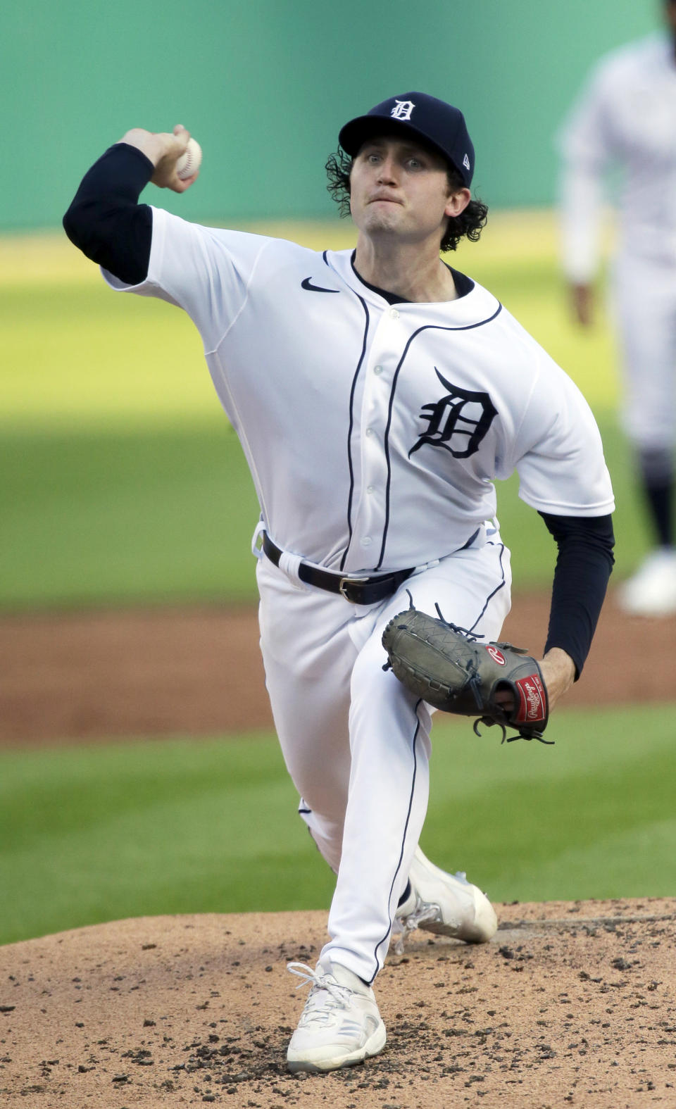 Detroit Tigers starter Casey Mize pitches against the Seattle Mariners during the third inning of a baseball game Wednesday, June 9, 2021, in Detroit. (AP Photo/Duane Burleson)