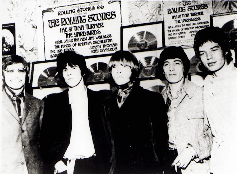 UNSPECIFIED - JANUARY 01: (AUSTRALIA OUT) Photo of ROLLING STONES and Charlie WATTS and Mick JAGGER and Keith RICHARDS and Bill WYMAN and Brian JONES; Posed group portrait L-R - Charlie Watts, Keith Richards, Brian Jones, Bill Wyman and Mick Jagger (Photo by GAB Archive/Redferns)